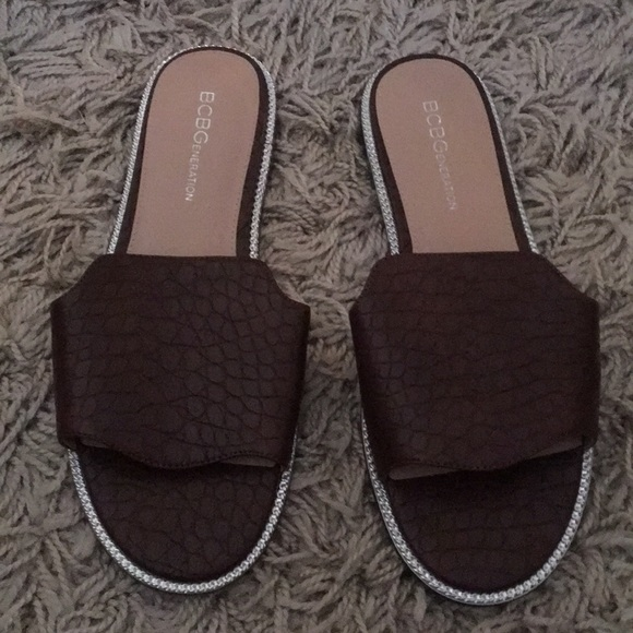 BCBGeneration Shoes - Bcbgeneration flat slide brown croco material